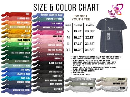 youth color chart